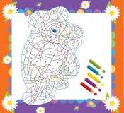 A página com exercícios para crianças - ilustração para as crianças Fotografia de Stock Royalty Free