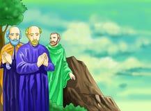 Página cristiana de la idea del calendario de Santo santa Imagen de archivo libre de regalías