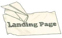 Página da aterrissagem com trajeto de grampeamento ilustração royalty free