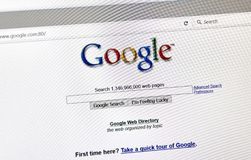Página da busca do estilo das pessoas de 2001 anos de Google Fotografia de Stock