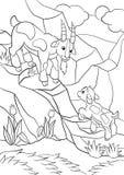 Página da coloração Colora-me: cabra Cabra bonito pequena do bebê Imagens de Stock