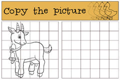 Página da coloração Colora-me: cabra Cabra bonito pequena do bebê Fotografia de Stock