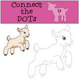 Página da coloração Colora-me: cabra Cabra bonito pequena do bebê Imagem de Stock