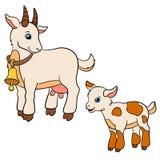 Página da coloração Colora-me: cabra Cabra bonito pequena do bebê Imagens de Stock Royalty Free