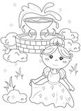 Página da coloração da princesa Fotografia de Stock Royalty Free