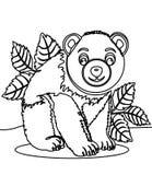 Página da coloração de Big Bear ilustração royalty free