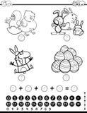 Página da coloração do jogo da atividade das matemáticas ilustração stock