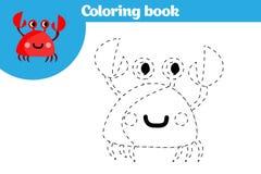 Página da coloração, jogo da educação para crianças A página da coloração, desenho caçoa a atividade Ilustração do vetor ilustração stock