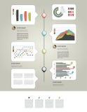 Página da disposição da coleção do gráfico de negócio. Foto de Stock Royalty Free