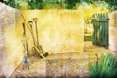 Página da jarda de exploração agrícola de Grunge Foto de Stock Royalty Free