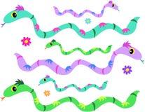 Página da mistura das serpentes Fotografia de Stock
