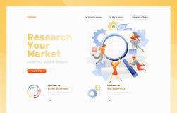 Página da web dos estudos de mercado ilustração do vetor