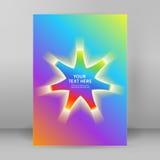 Página de cubierta del formato A4 de la plantilla de la presentación del fondo del arco iris Fotos de archivo