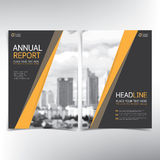 Página de cubierta del negocio, plantilla del vector, condominio y concepto modernos de las propiedades inmobiliarias ilustración del vector