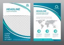 Página de cubierta del tamaño A4 de la plantilla del aviador de la disposición libre illustration