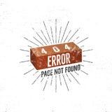 página de 404 errores con el ladrillo Concepto del vector de página de 404 errores Ejemplo para el error de la página 404 Mensaje Foto de archivo libre de regalías