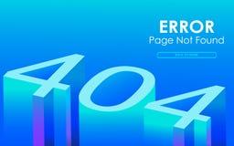 página de 404 errores no encontrada en el estilo 3D Fotos de archivo