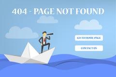a página de 404 erros não encontrou a bandeira para o Web site ilustração stock