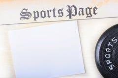 Página de esportes Imagem de Stock