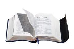 Página de giro da Bíblia do Espírito Santo Fotos de Stock