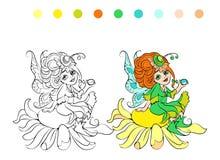 Página de hadas del colorante de la historieta Fotos de archivo libres de regalías