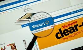 Página de Internet de Walmart Fotos de archivo libres de regalías