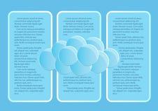 Página 3 de 5 Maqueta con las nubes redondas del extracto del extremo del cielo azul Stock de ilustración