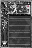 Página de novembro do vintage com Archer Cupid no quadro-negro Fotografia de Stock