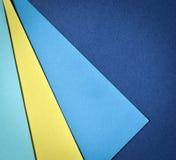 Página de papel com cores azuis e amarelas Imagem de Stock Royalty Free