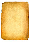 Página de papel velha Imagem de Stock