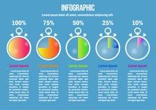 A página 2 de 4 para infographic com cor secunda diagramas ilustração stock