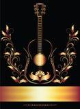 Página de título com guitarra Imagem de Stock Royalty Free