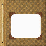 Página de tampa para o álbum Foto de Stock