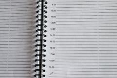 Página de um bloco de notas com os anéis Fotografia de Stock