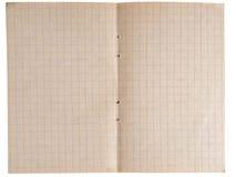 Página de um caderno Fotos de Stock