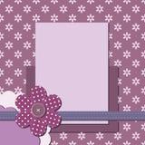 Página decorativa del libro de recuerdos con el marco Imagen de archivo libre de regalías
