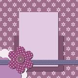 Página decorativa do álbum de recortes com quadro Imagem de Stock Royalty Free