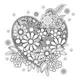 Página del colorante de día de San Valentín stock de ilustración