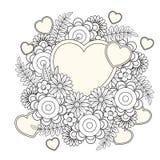 Página del colorante de día de San Valentín libre illustration