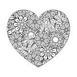 Página del colorante de día de San Valentín ilustración del vector