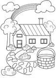 Página del colorante de la casa Imagenes de archivo