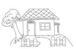 Página del colorante de la casa para los niños Imagen de archivo