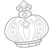 Página del colorante de la corona Imagen de archivo libre de regalías