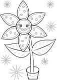 Página del colorante de la flor Fotos de archivo