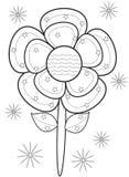 Página del colorante de la flor Imagenes de archivo