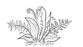 Página del colorante de la hierba para los niños Imagen de archivo libre de regalías