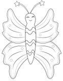 Página del colorante de la mariposa Imagen de archivo