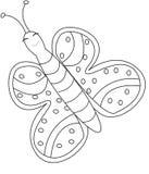 Página del colorante de la mariposa Imagenes de archivo