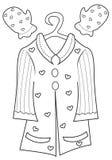 Página del colorante de la ropa de la muchacha Imagen de archivo
