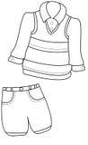 Página del colorante de la ropa del muchacho Foto de archivo libre de regalías